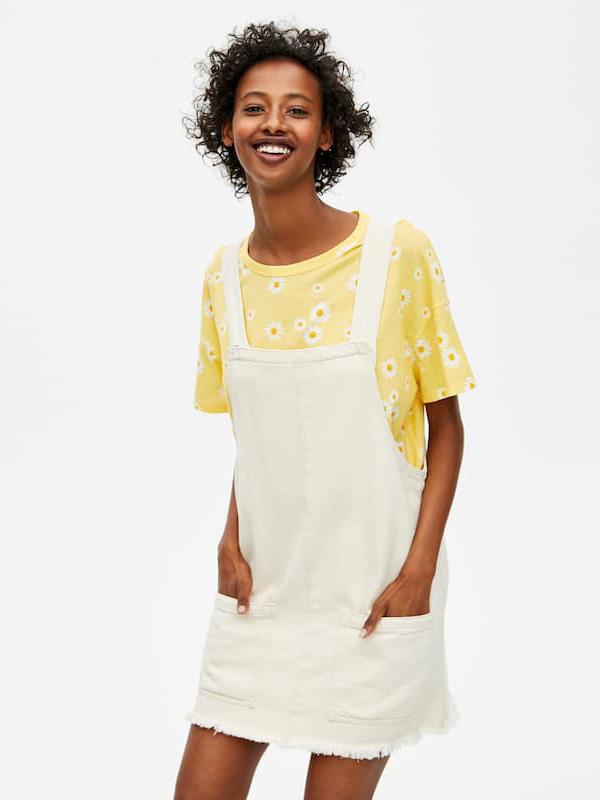 Camiseta amarilla de margaritas de Pull&Bear