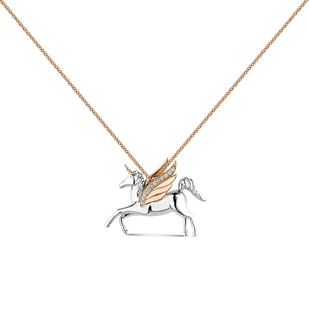 Colgante de unicornio de la Colección El Alma de los Sueños de Suarez