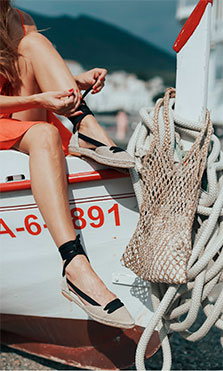 diseños calzado de yute