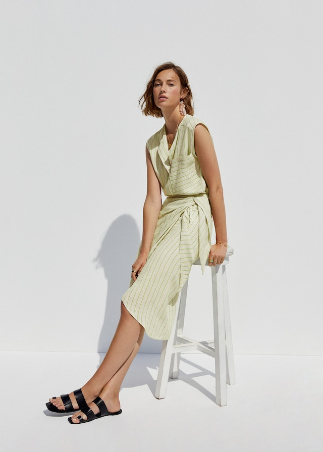 Falda cruzada de Mango