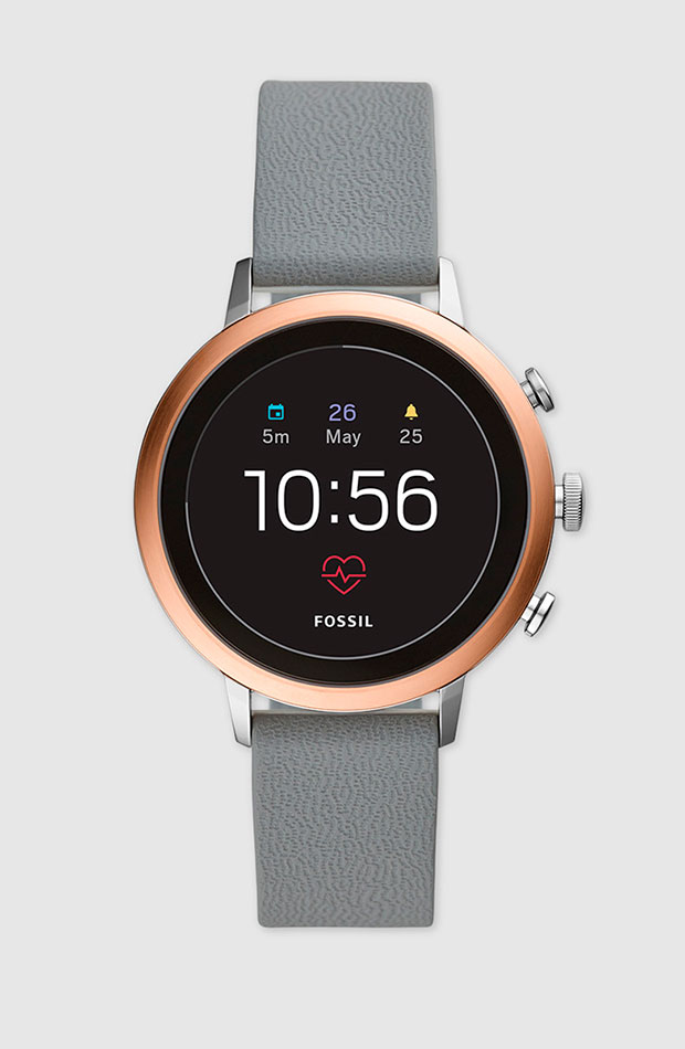 Smartwatch de Fossil con correa en gris