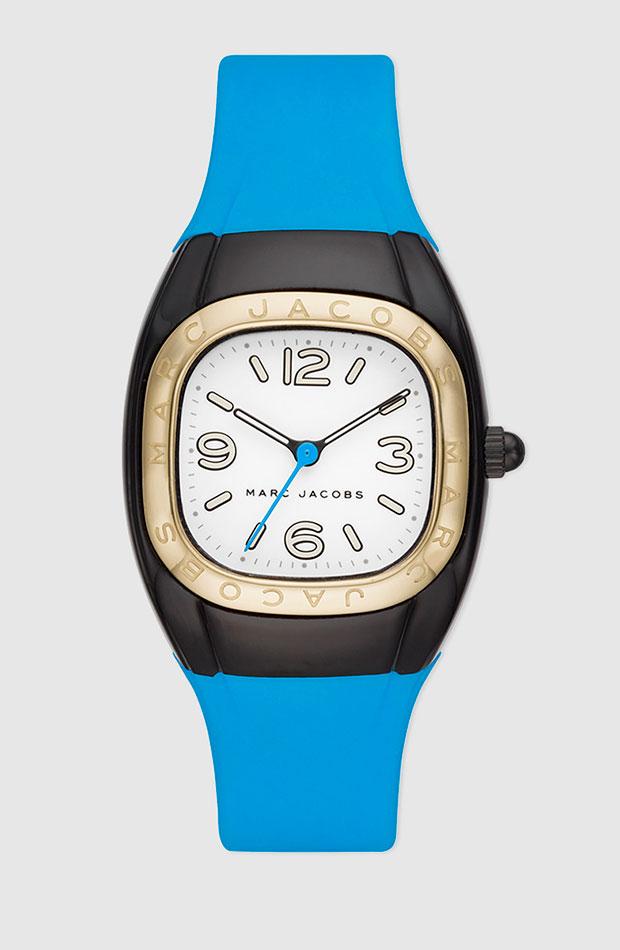 Reloj de Marc Jacobs de silicona en azul celeste