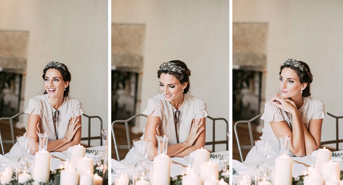 Miss Cavallier con look de pendientes de novia