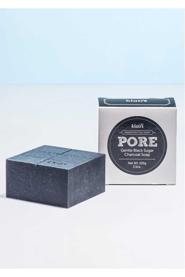 productos 100 veganos Pore Gentle Black Charcoal Soap