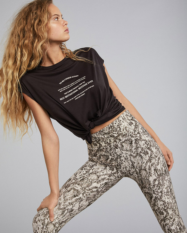 Leggings crop animal print de Oysho