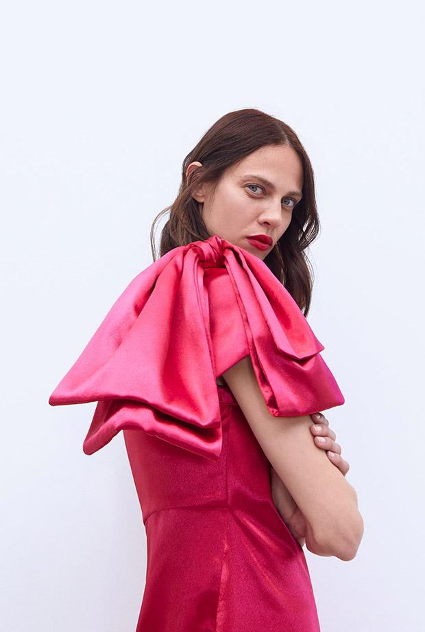 Cuerpo asimétrico rosa de Zara