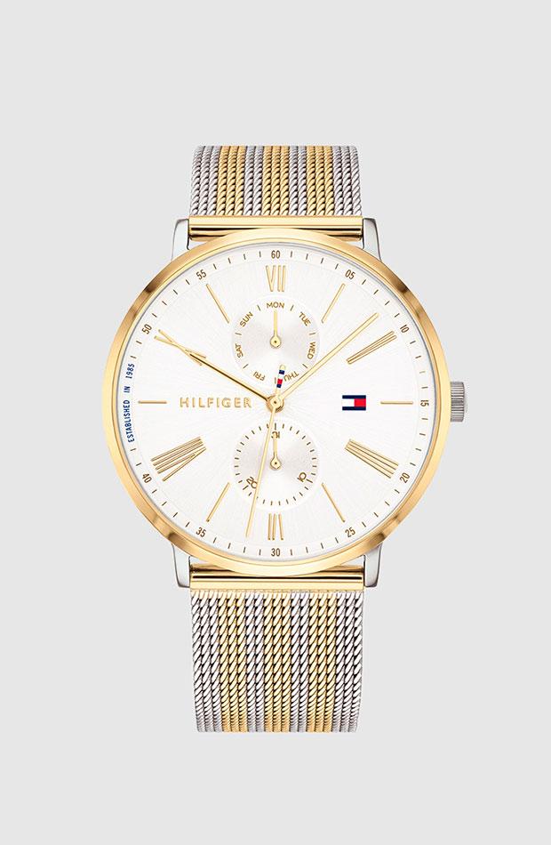Reloj de Tommy Hilfiger con correa en dorado y plateado