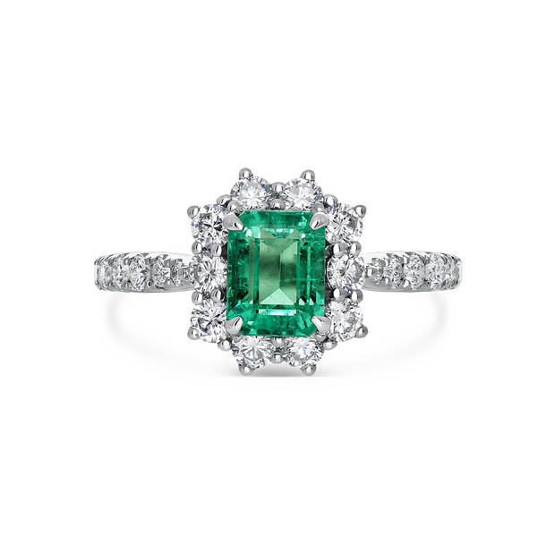 Mix and Match, anillo octogonal de esmeralda