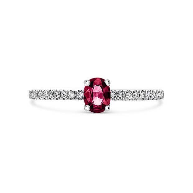 Mix and match anillo rubi solitario