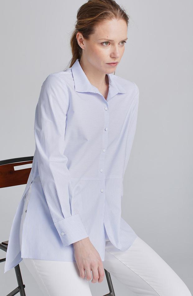 camisa azul celeste woman