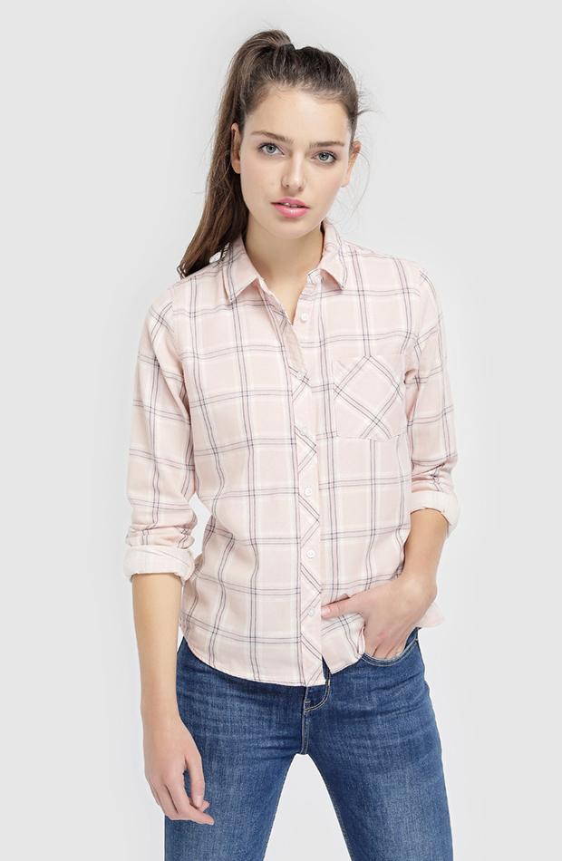 camisa cuados manga larga