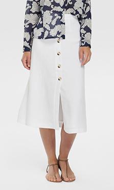 falda con abertura
