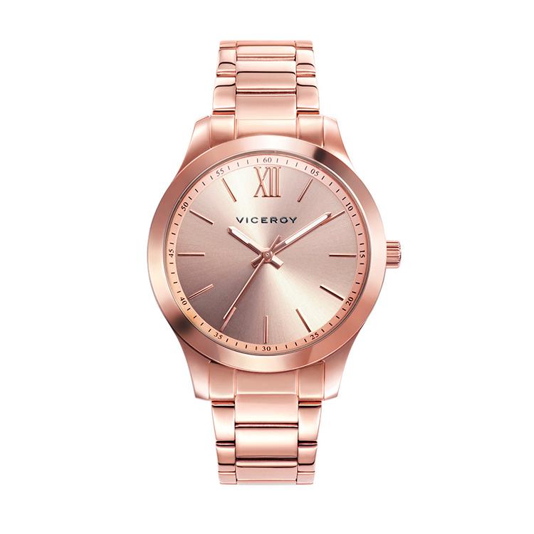 Reloj de acero rosa de Viceroy