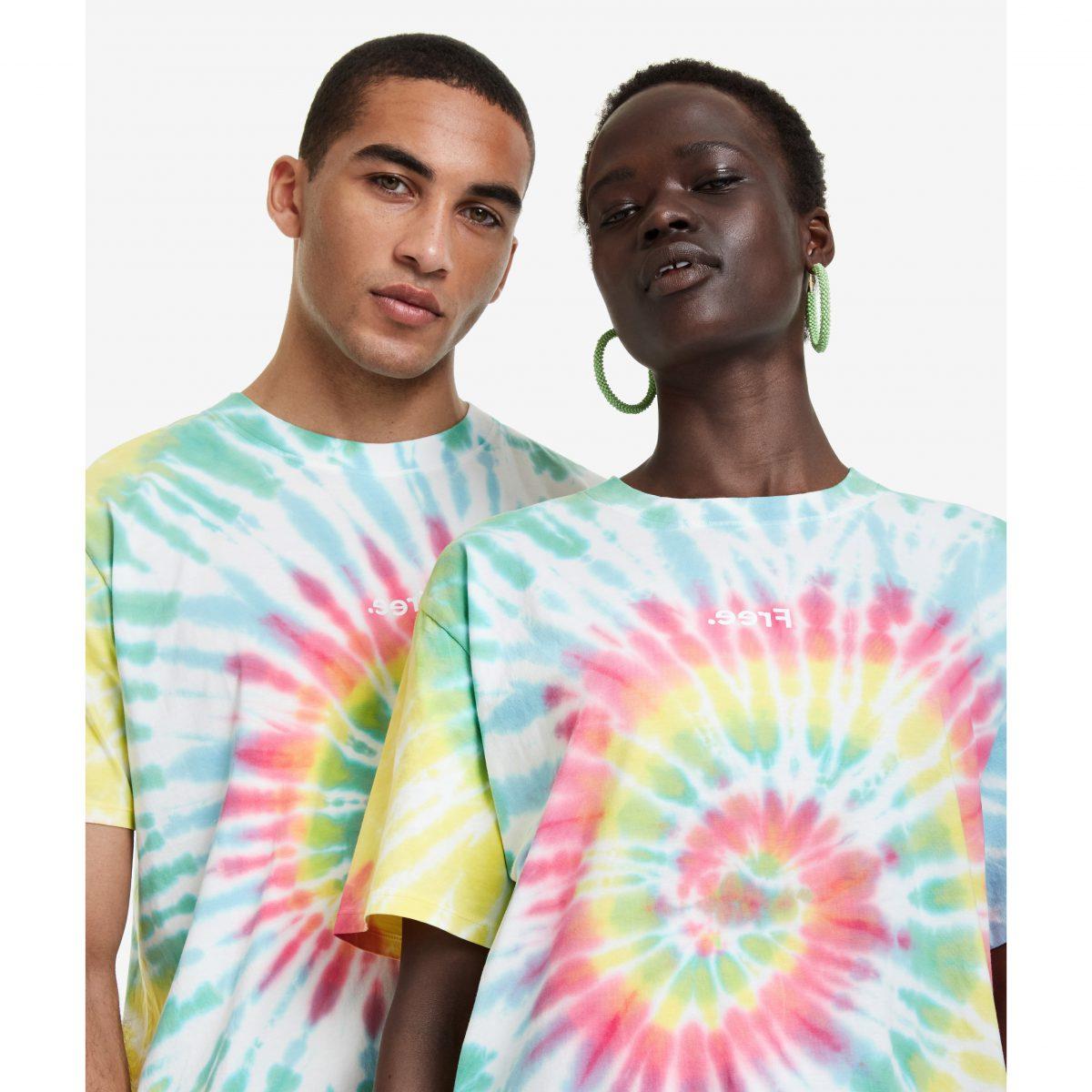 camiseta tie-dye desigual
