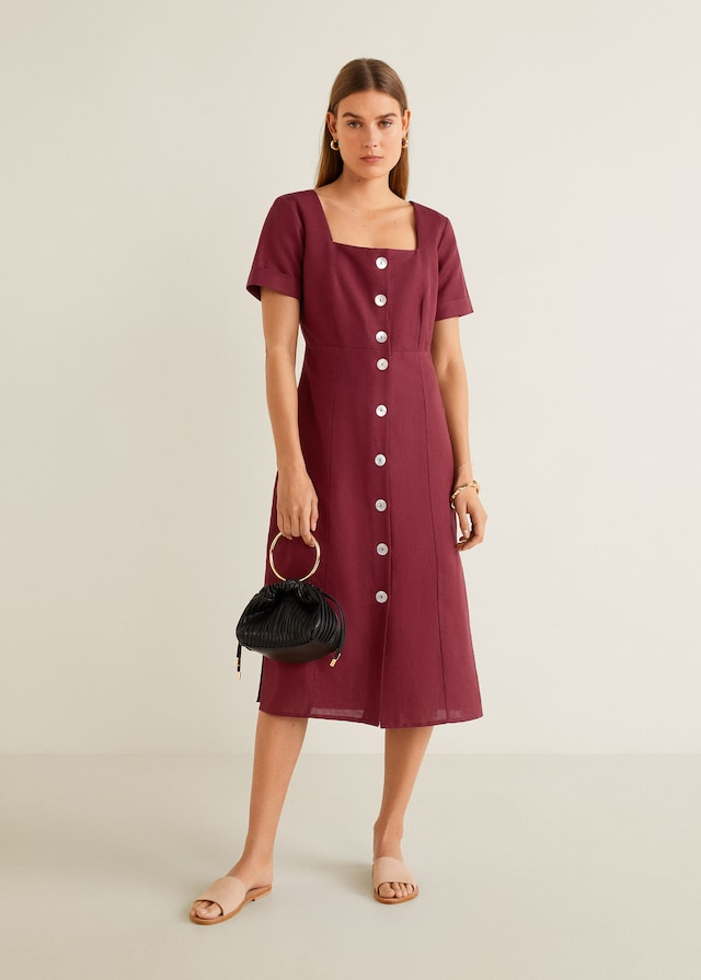 Vestido de lino de las rebajas de Mango