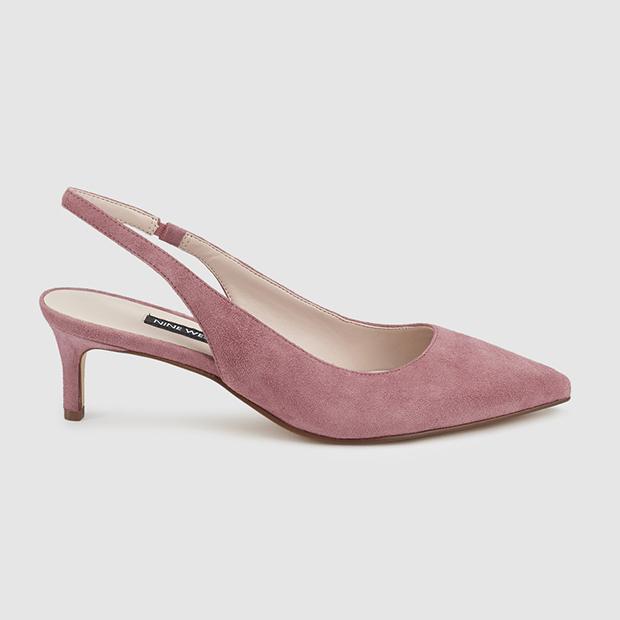 Zapatos de punta rosas
