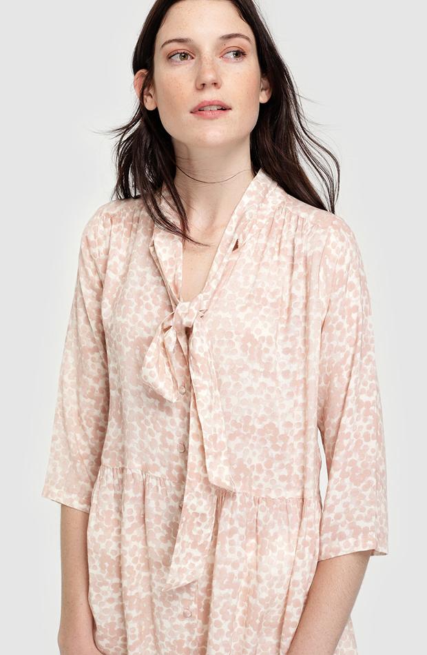 prendas de otoño blusón de lunares southern cotton