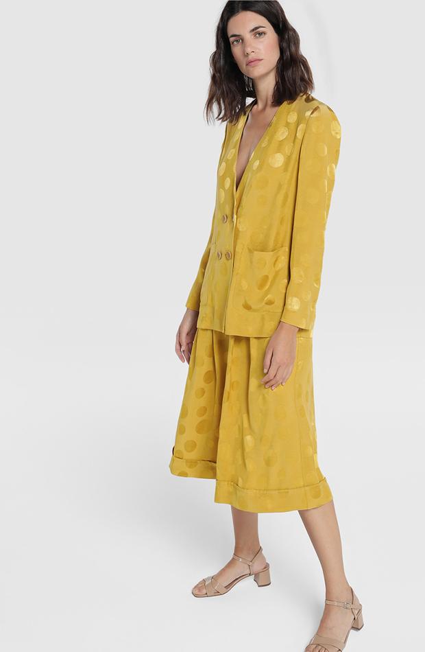 prendas de otoño chaqueta de lunares de amitie