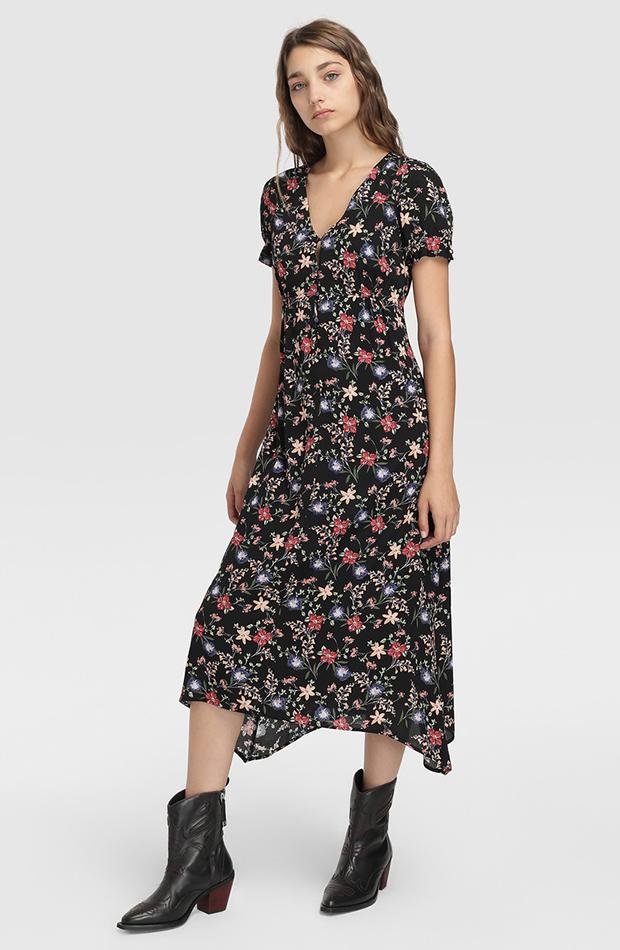 prendas de otoño vestido de flores elogy