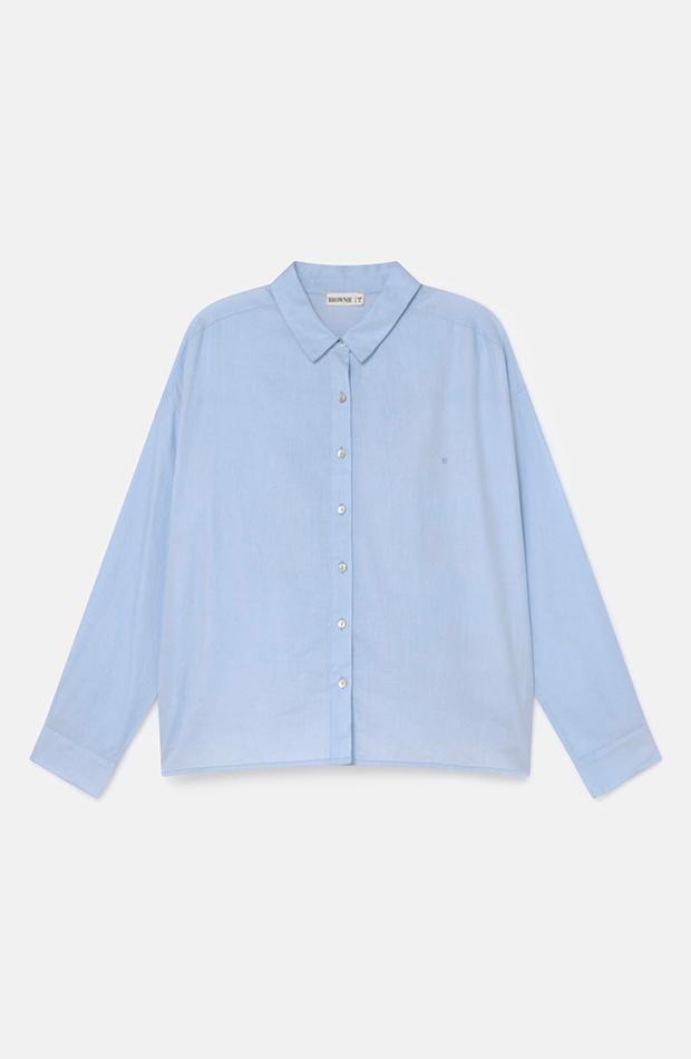 Camisa azul clásica de Brownie
