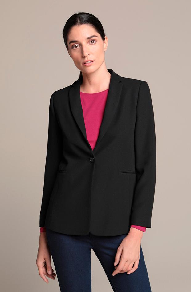 Blazer clásica en color negro de Woman El Corte Inglés