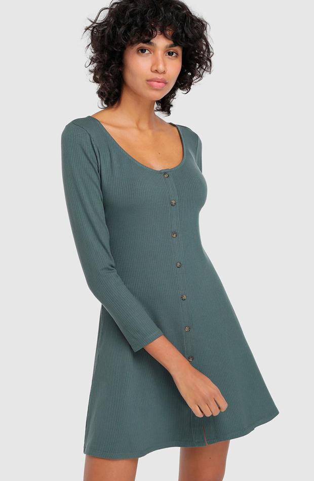 Vestido de punto verde de Green Coast