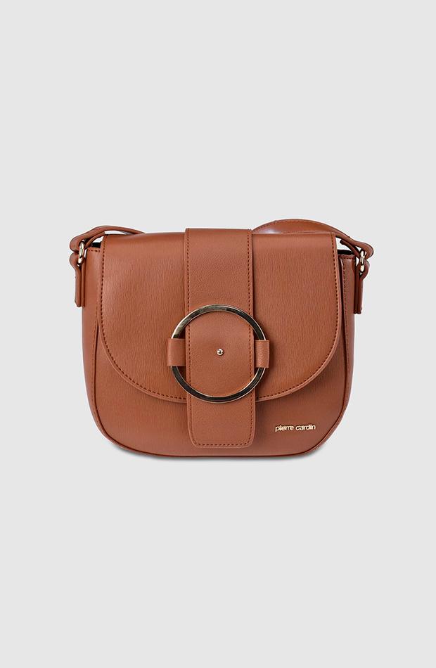 bolsos de temporada otoño Bolso bandolera marrón de Pierre Cardin