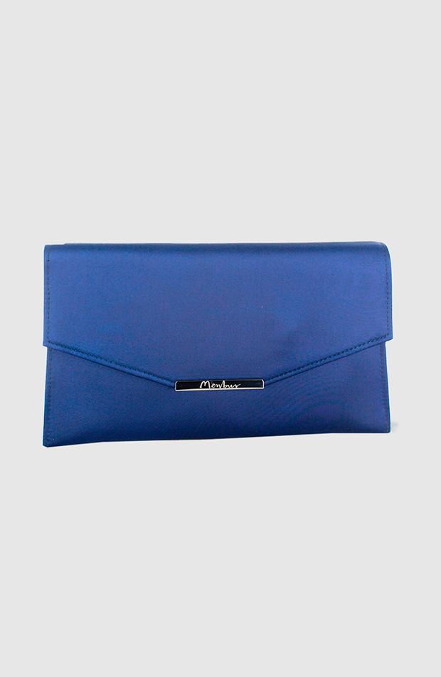 bolsos de temporada otoño Sobre de fiesta en color azul de Menbur bolsos de temporada otoño