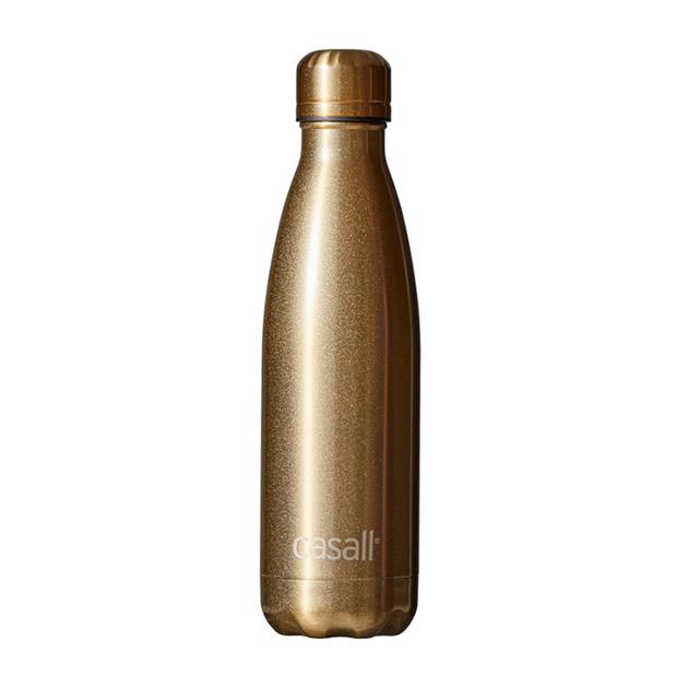 Botella de agua de Casall dorada para deporte