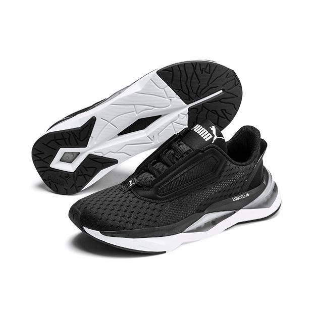 Zapatillas running negras de Puma deportes de moda