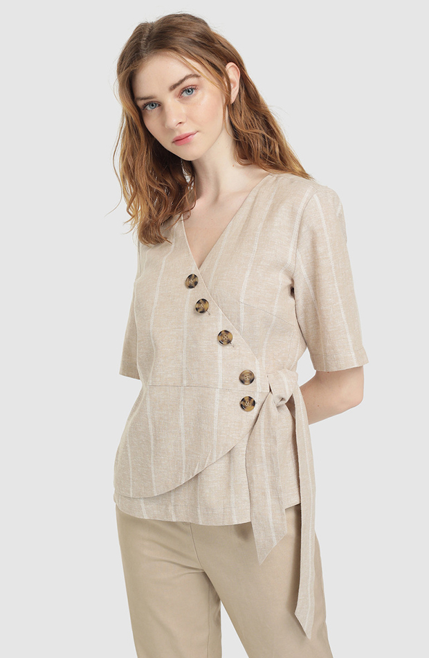 look beige blusa easy wear