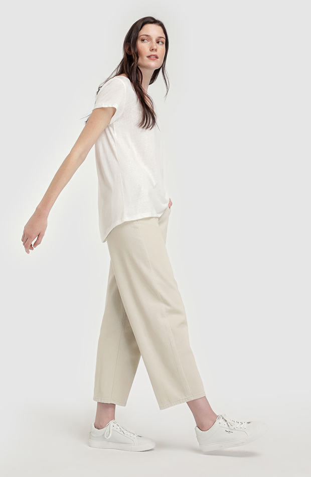 look beige pantalon souther cotton