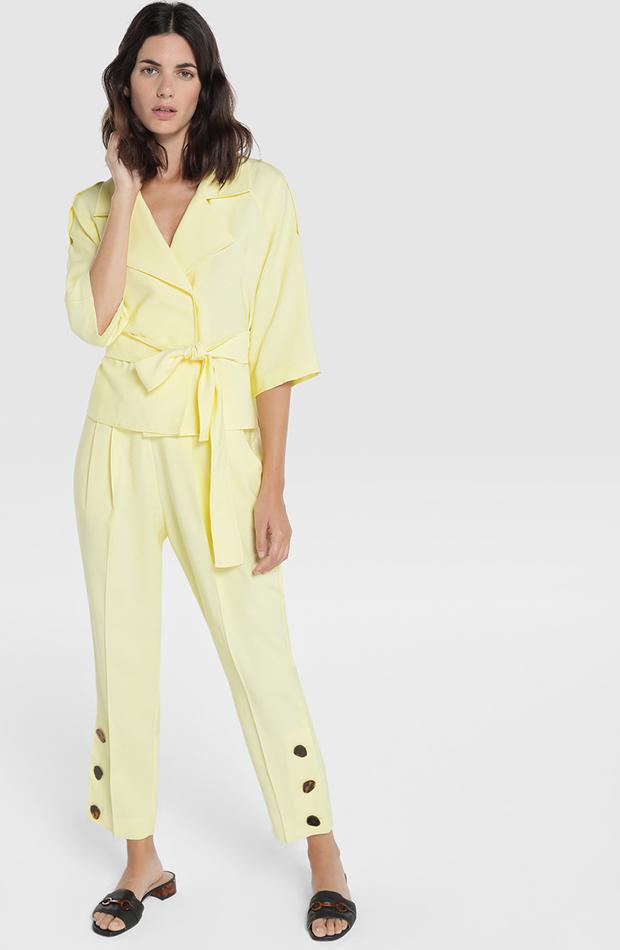blusa cruzada amarilla de amitie