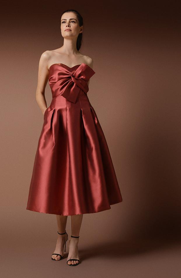 vestido de tafetan de woman fiesta el corte ingles