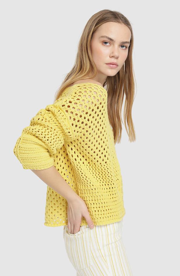 jerseis finos calado amarillo