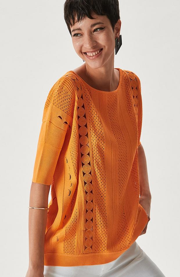 jerseis finos calado naranja