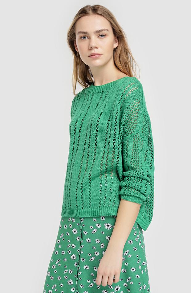 jerseis finos calado verde