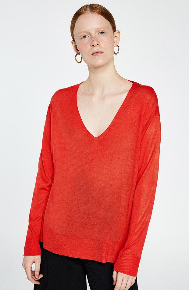 jerseis finos rojo brillante