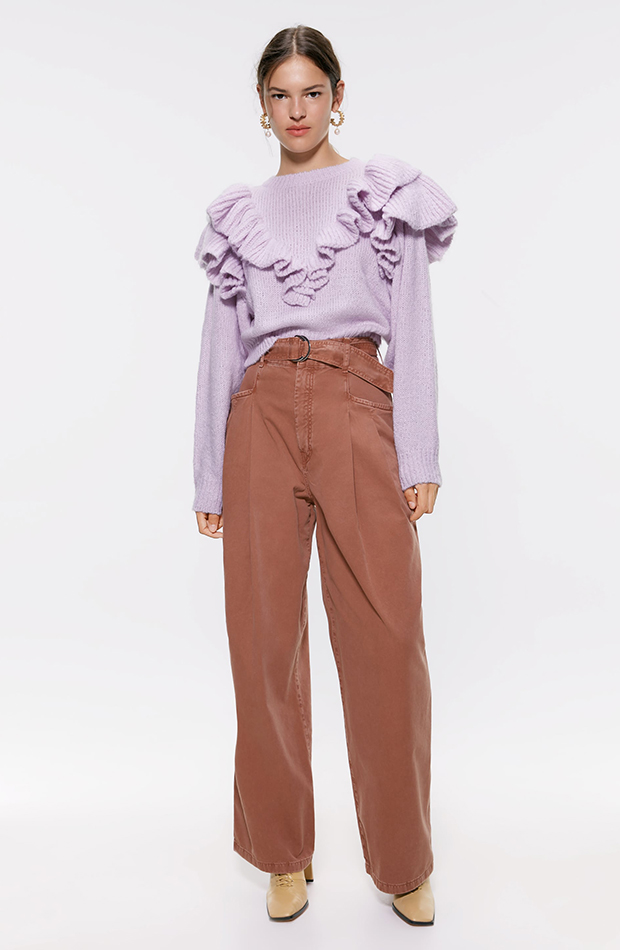 jersey lila de punto