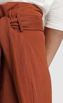 pantalon paper bag arcilla