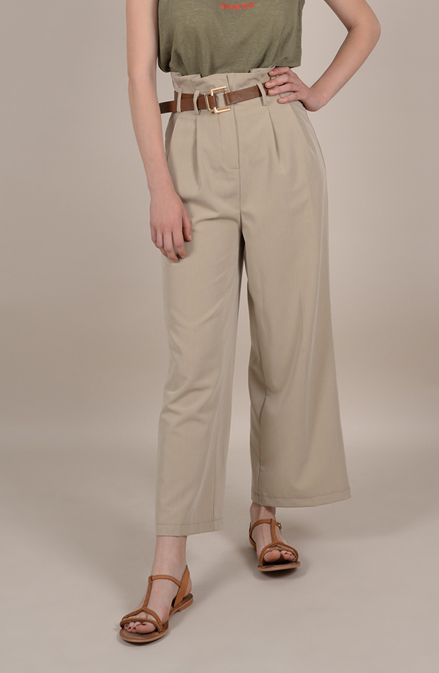pantalon paper bag safari