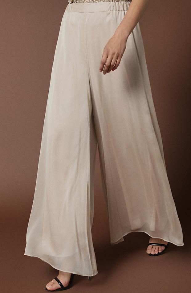 pantalon fluido blanco