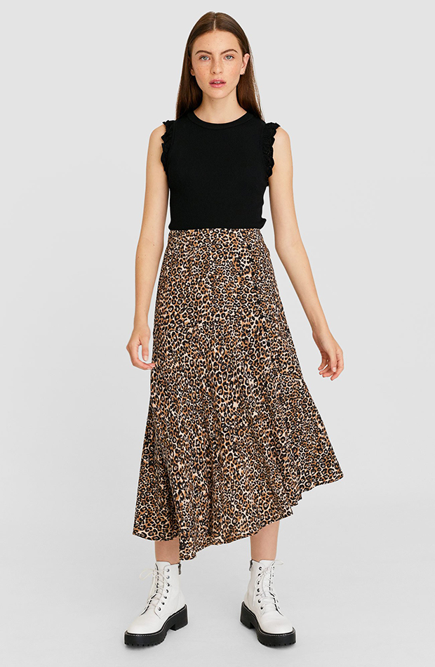 tendencias otono 2019 falda animal print