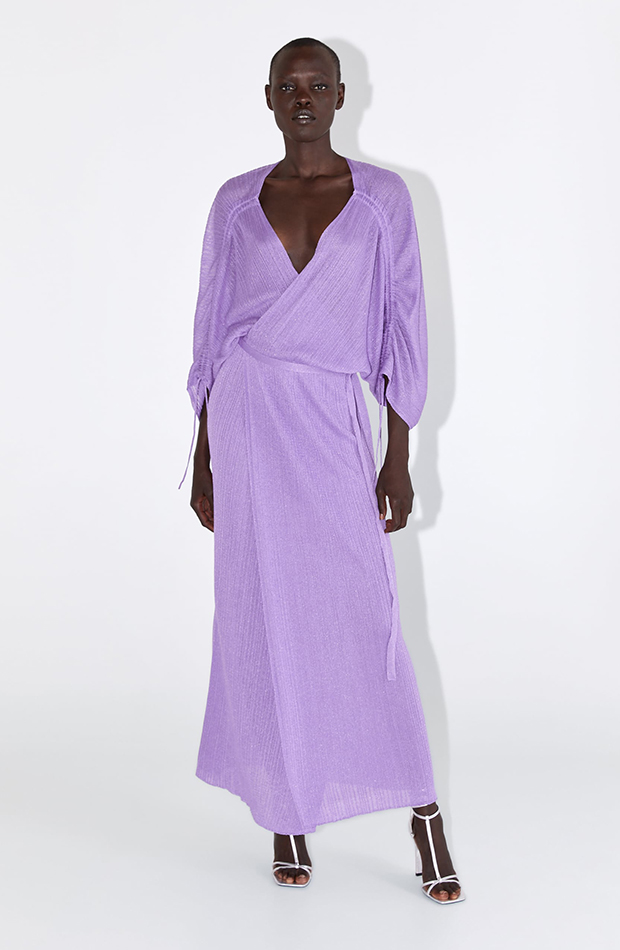 vestido cruzado de zara