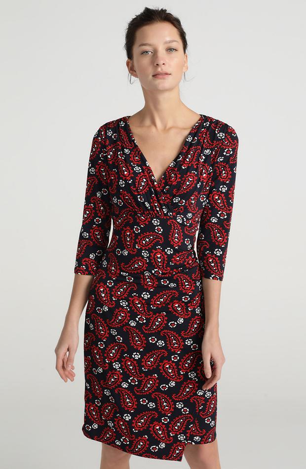 vestido corto paisley
