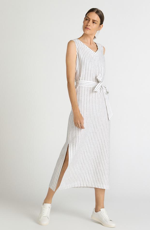vestido rayas con lazo