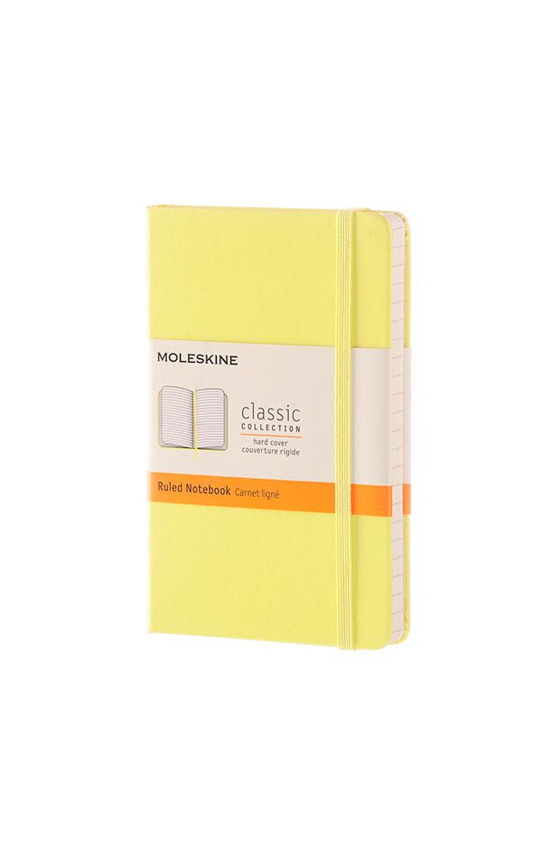 Cuaderno Pocket rayado tapa dura amarillo de Moleskine