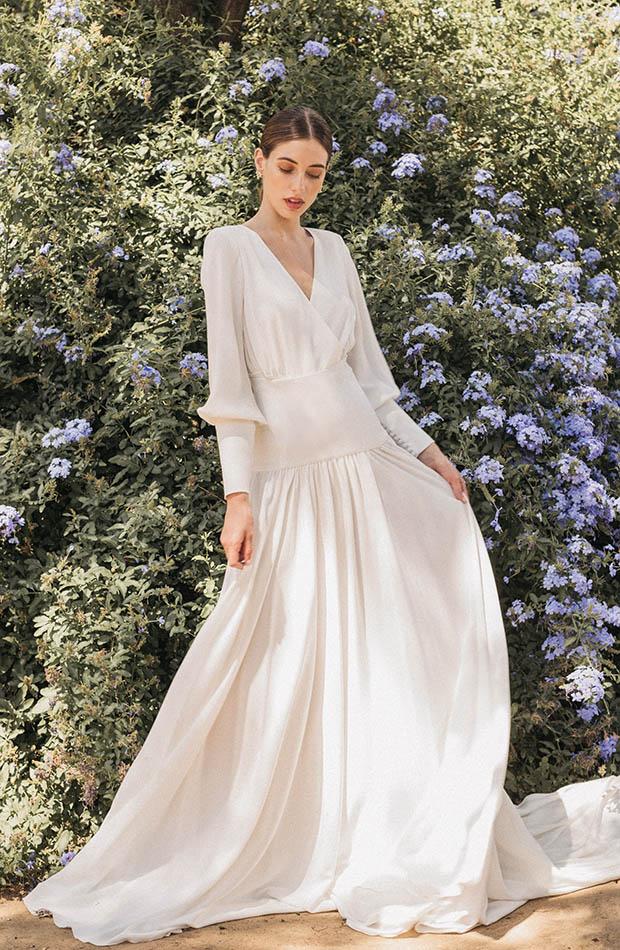 Vestido de novia de Cherubina colección 2020