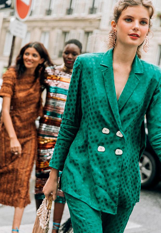 Traje verde de La Rue de Sophie and Lucie