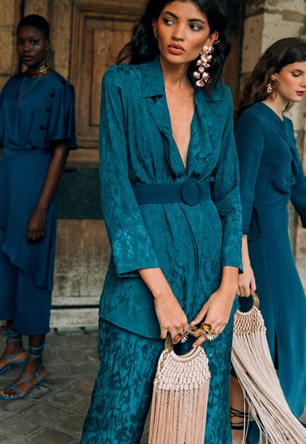Conjunto azul de la colección La Rue de Sophie and Lucie